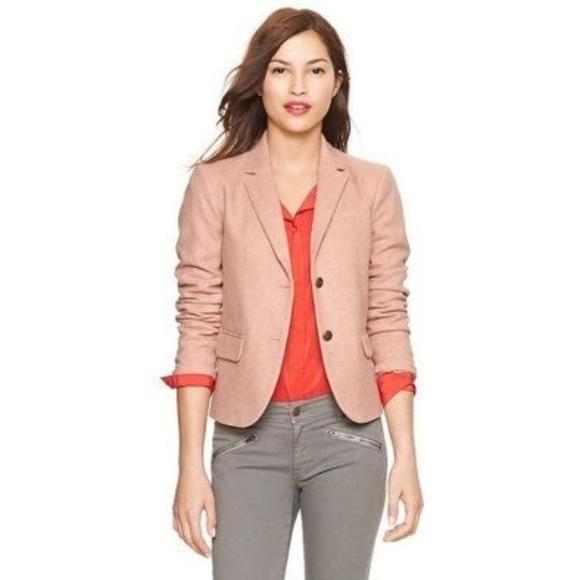 GAP Jackets & Blazers - Gap The Academy Herringbone Pink Blazer